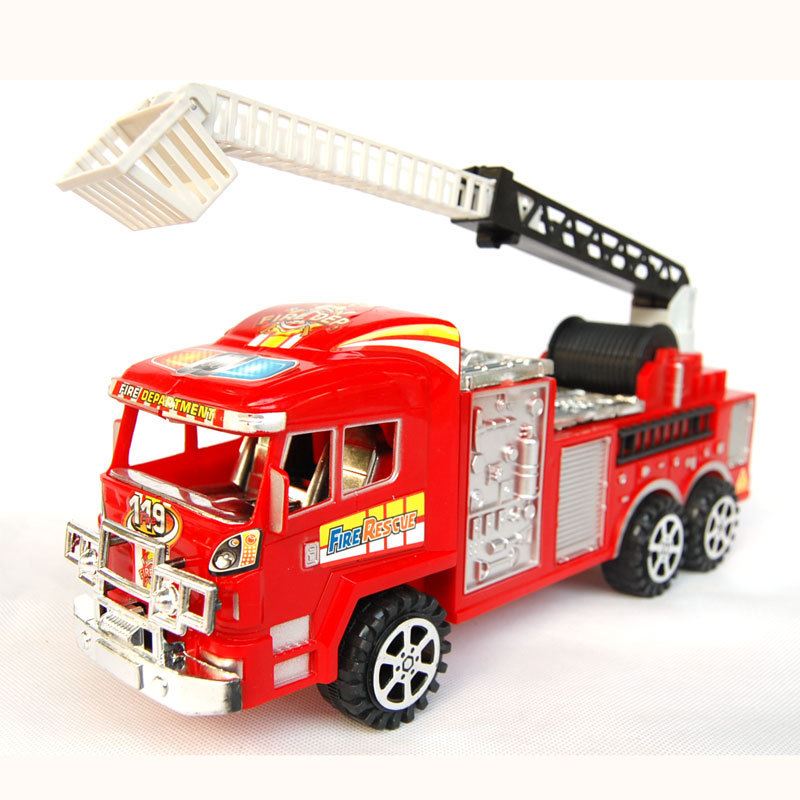 WJA1093 Male baby favorite King 30cm big red fire truck ladder Value inertia series 350g Toy vehicles(China (Mainland))