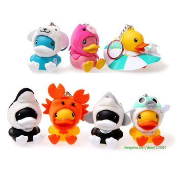 Semk luft b duck toys,B.duck figure for Keychain/Pendant sea series 7pcs/set 4CM Height for xmas gift