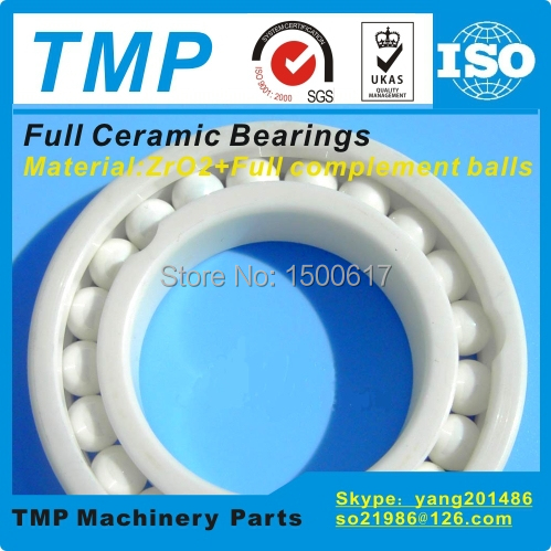 7207CE Full Ceramic Bearing (35x72x17mm) ZrO2 material Angular Contact Ball Bearing High Temperature Nonmagnetic insulated(China (Mainland))