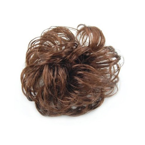 Womens Girls Long Curly Brown Hair Wig Ponytail Holder Scrunchie Hairpiece Fast Shipping(China (Mainland))