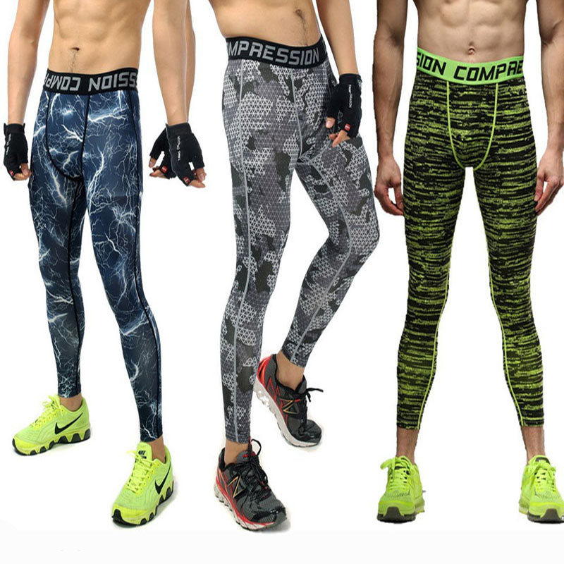 New 2016 Mens Compression Pants Sports Running Tights Basketball Gym Pants Bodybuilding Jogger Jogging Skinny Leggings Trousers(China (Mainland))
