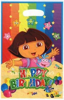 120 x Dora The Explorer Birthday Party Supply Favors Goody Loot Treat Sack Gifts Bags - Loot Bags treat bag lolly bags,Free Ship