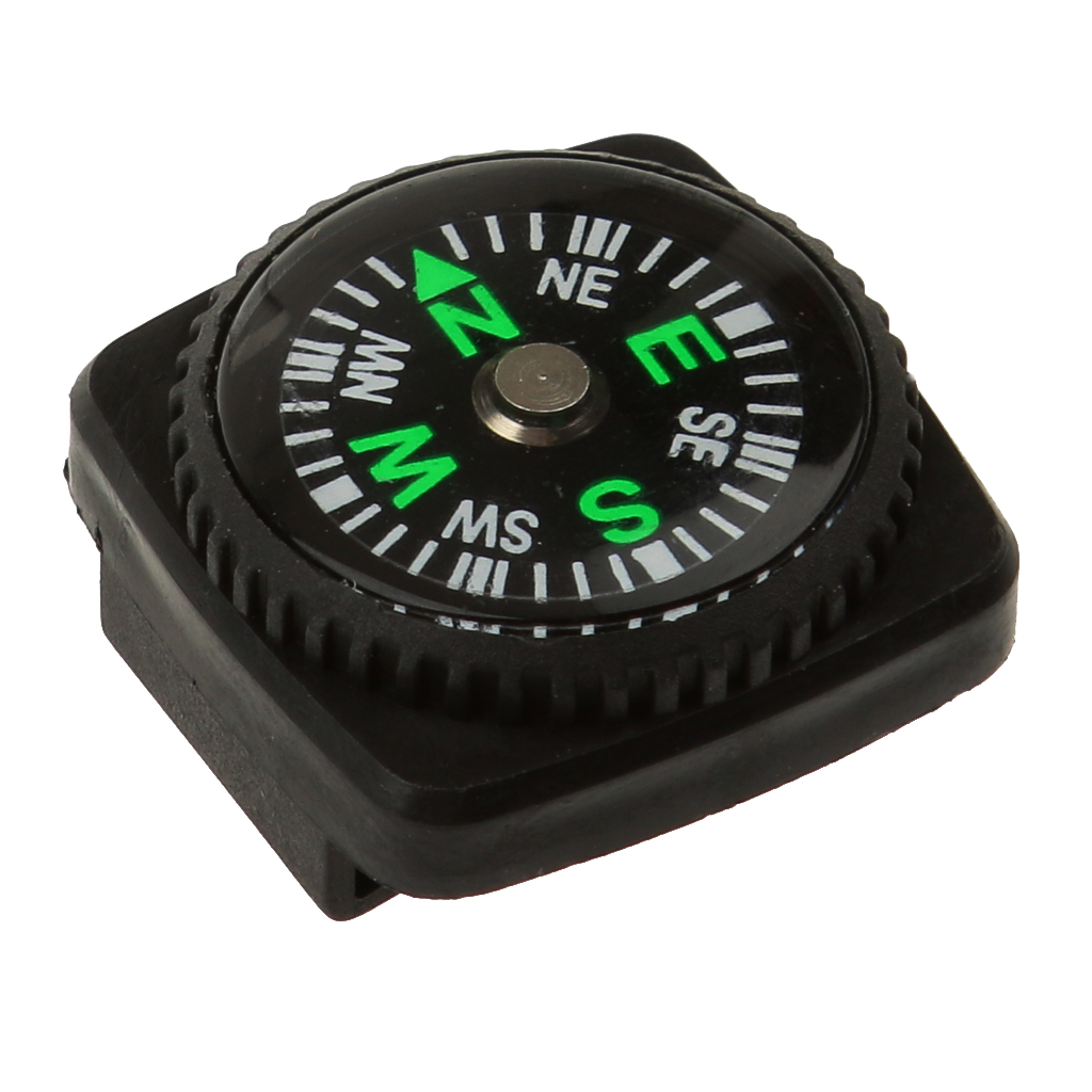 Waterproof Slip Slide Compass Set for Watch Band or Paracord Bracelets for Outdoor Camping Hiking Trekking Backpacking Boating