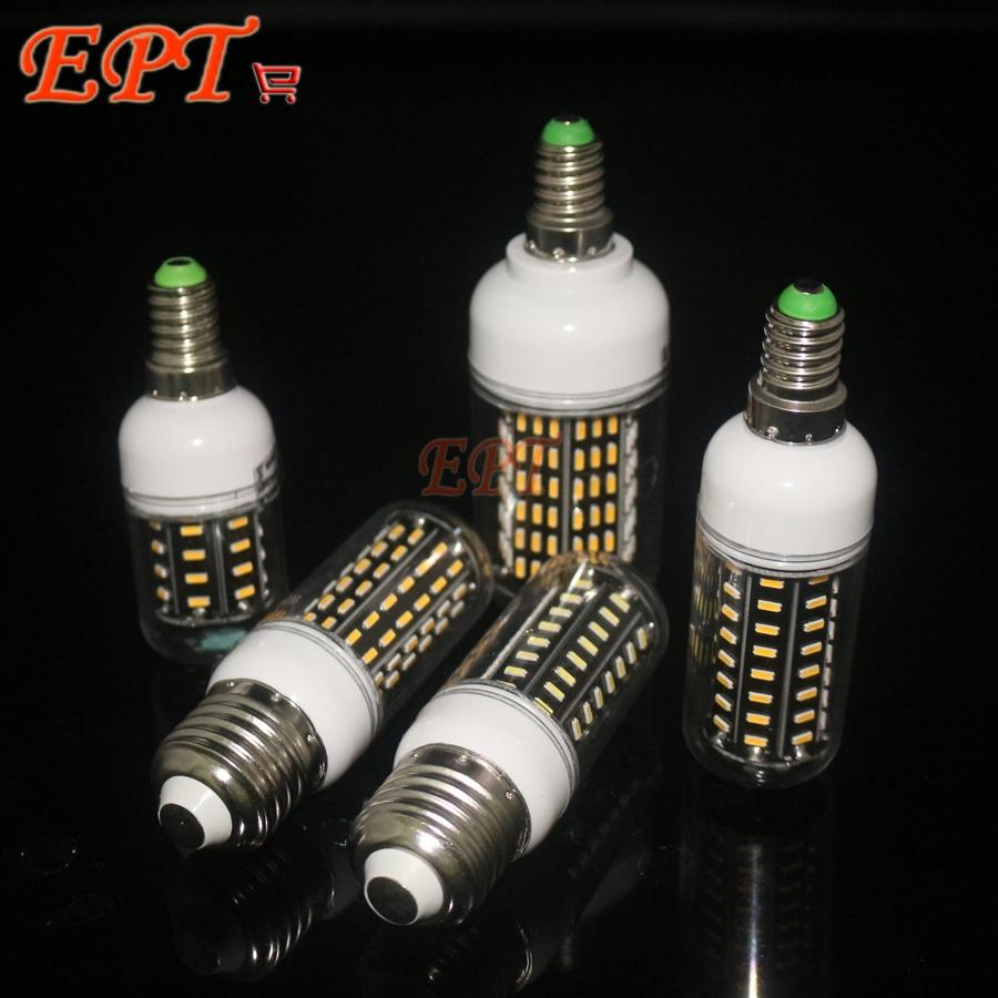 Гаджет  1Pcs  AC110v 220V High Quality LED bulbs lighUltra High luminous 4014 SMD E27 e14  12W 18W 25W 30W 35W LED Corn lamp Chandelier None Свет и освещение