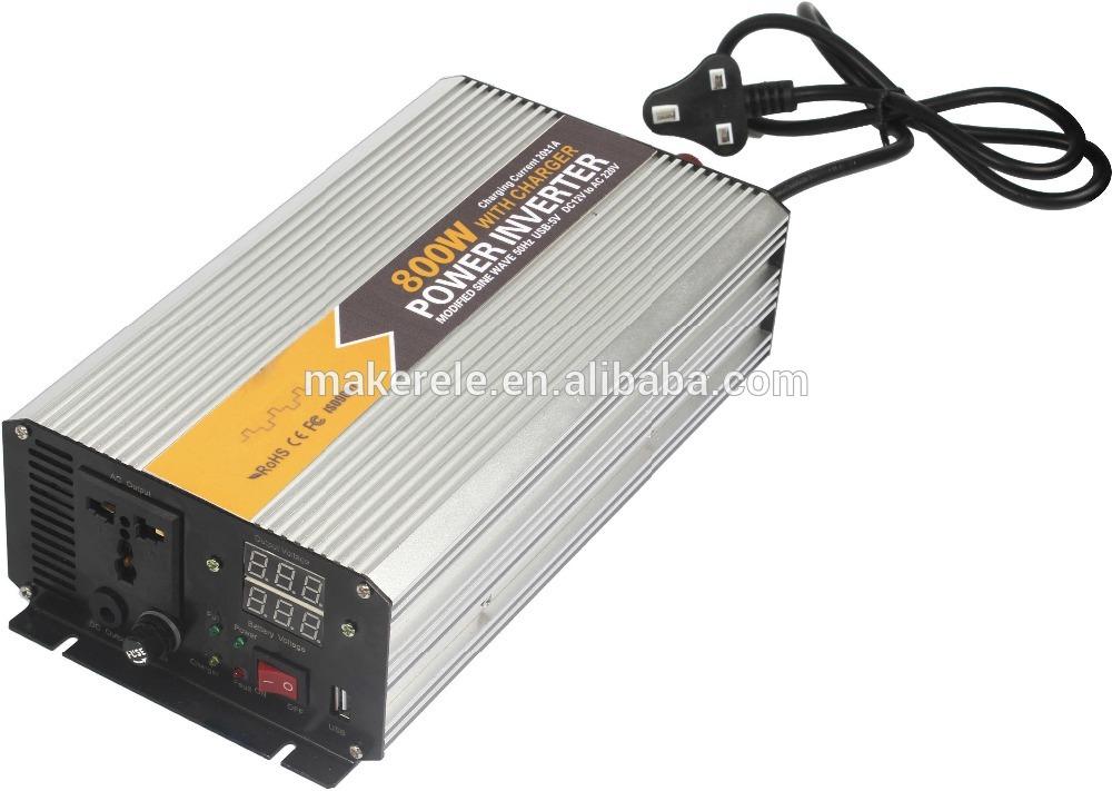 Фотография MKM800-481G-C 800watt single phase inverter 48vdc to 110/120vac universal socket modified sine power inverter,inverters for sale