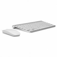 Russian Ultra-Thin Wireless Keyboard Mouse Combo 2.4G Wireless Mouse for Apple Keyboard  Style Mac Pc WindowsXP/7/8/10 Tv Box(China (Mainland))