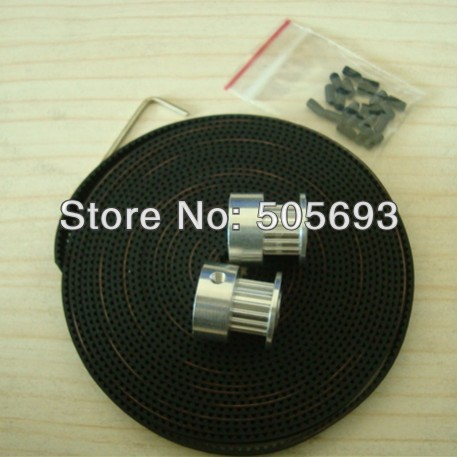 free shipping 16 teeth t2.5 timing pulley 2 pcs and 6mm width open belt 1.1meters(China (Mainland))