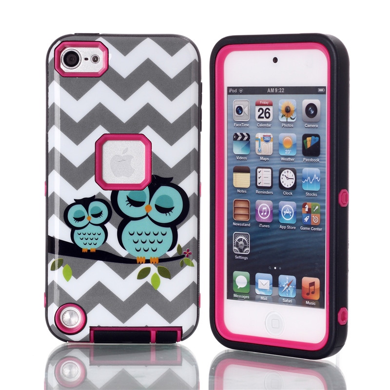 NEW pattern Case ipod touch 5 Luxury Brushed PC+TPU Hard Cases Shockproof Back Cover iPod Touch 5 5G 5th Generation Gen
