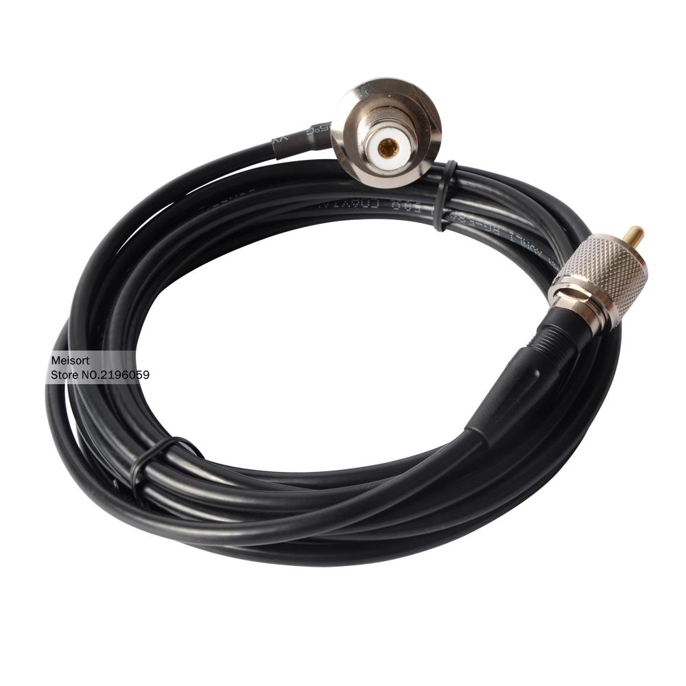 Walkie Talkie Antenna For Car Radios Accessories 4 Meter RG-58A RC-ECH Antenna Cable for Walkie Talkie Yaesu ICOM Kenwood Radio(China (Mainland))