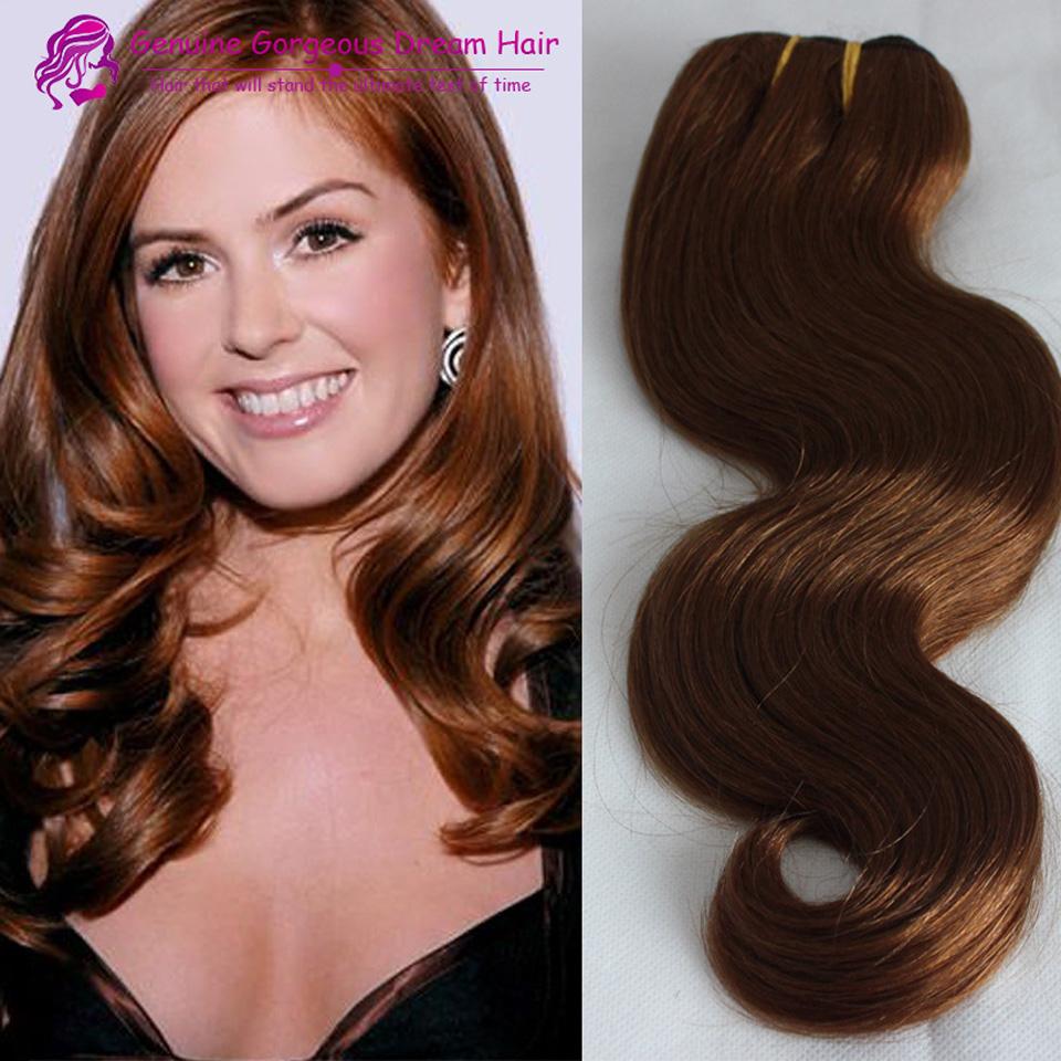 Virgin Brazilian human Hair 7a Body Wave #30 medium auburn 1pc/lot Remy human Hair Weave Hair Extensions <br><br>Aliexpress