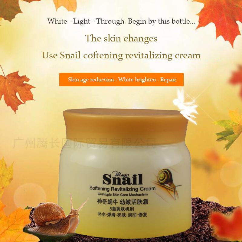 100g Filling water smooth Bright skin Light printing improve dry skin Repair skin fine lines Snail softening revitalizing cream(China (Mainland))