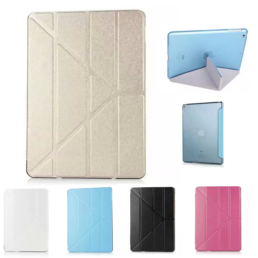 Multi-Fold Deformation Leather Plastic Protective Flip Case for iPad Air 1(China (Mainland))