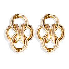 17KM אופנה זהב Stud עגילי 2019 בציר קשר עגילים לנשים גיאומטרי Twisted אהבה קטן עגיל מינימליסטי תכשיטים(China)