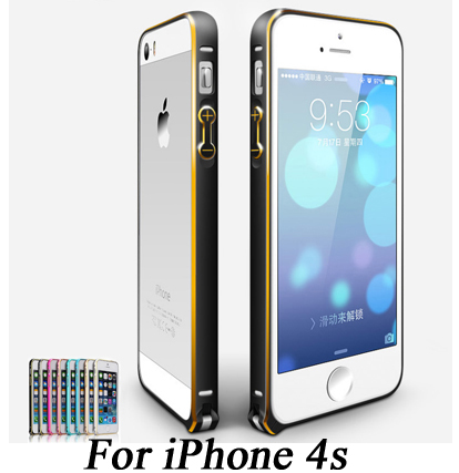 Luxury Ultra thin 0.7mm ARC Aluminium Metal Bumper Frame Case For Apple iPhone 4s 4s iPhone4 Bumper Phone Cover capa funda