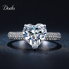 Heart shape white gold plated jewelry Ring antique CZ diamond crystal wedding band Engagement Rings for women girls bijoux DR048(China (Mainland))