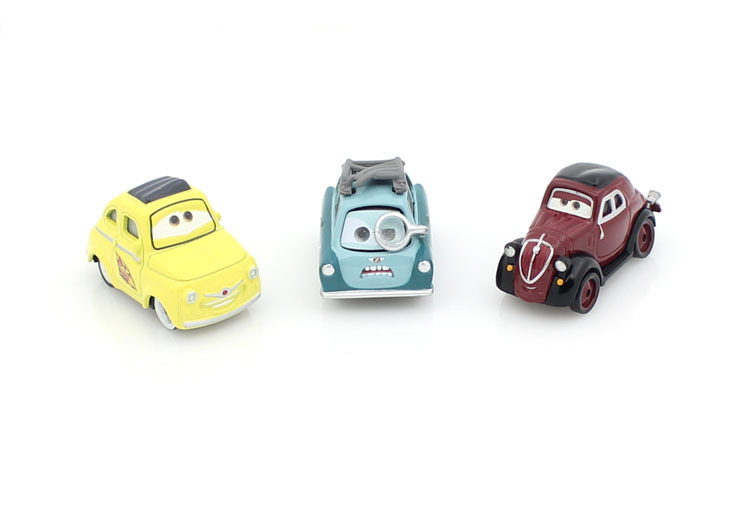 3 Pcs/Set Pixar Cars 2 100% original metal car Dr. Z + cabo+Cabo uncle Alloy die-casting model birthday gift free shipping(China (Mainland))