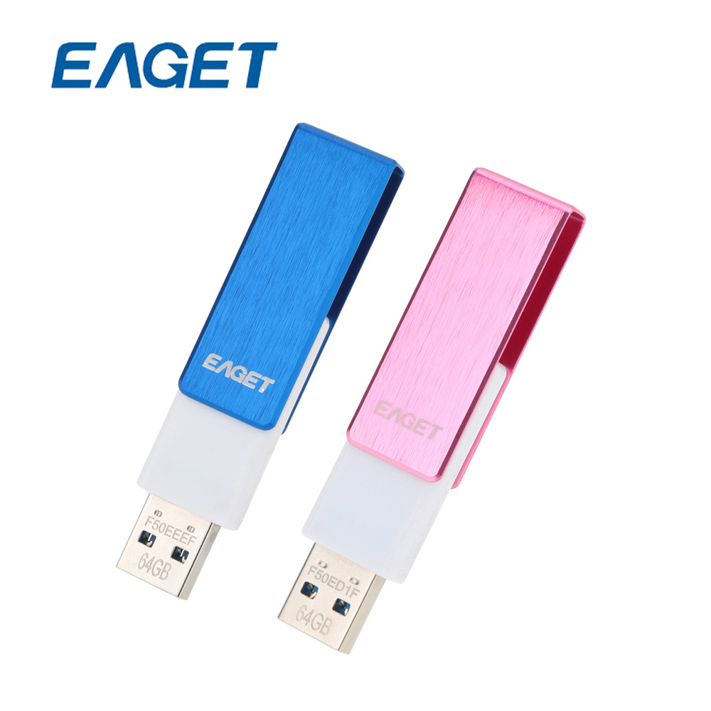 US STOCK EAGET F50 64GB 16GB USB 3.0 Flash Drive USB Stick 64 GB Pen Drive Pendrives Waterproof Rotation Metal Pen drive USB Key(China (Mainland))