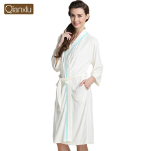 New Arrival Pajamas Fashion Home Bathrobe White Knitted Long-sleeve Robe for women and men Free Shipping