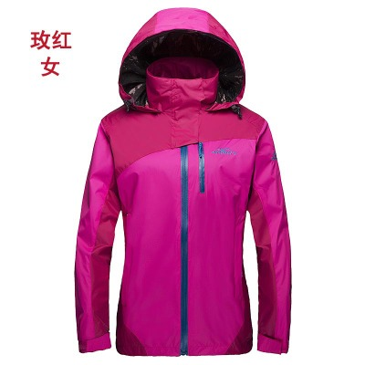 Spring Jackets Outdoor Clothing Couple Big Yards Spell Color Hooded Windproof Sportswear YN34<br><br>Aliexpress