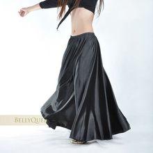 Parlak Saten Uzun İspanyol Etek Salıncak dans etek Oryantal dans eteği 14 renk mevcuttur VL-310(China)