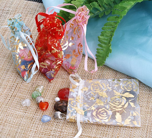 Promotion ! 80pcs Wedding Gift Bag Candy Jewelry Packing Organza Pouch 120x100mm(China (Mainland))