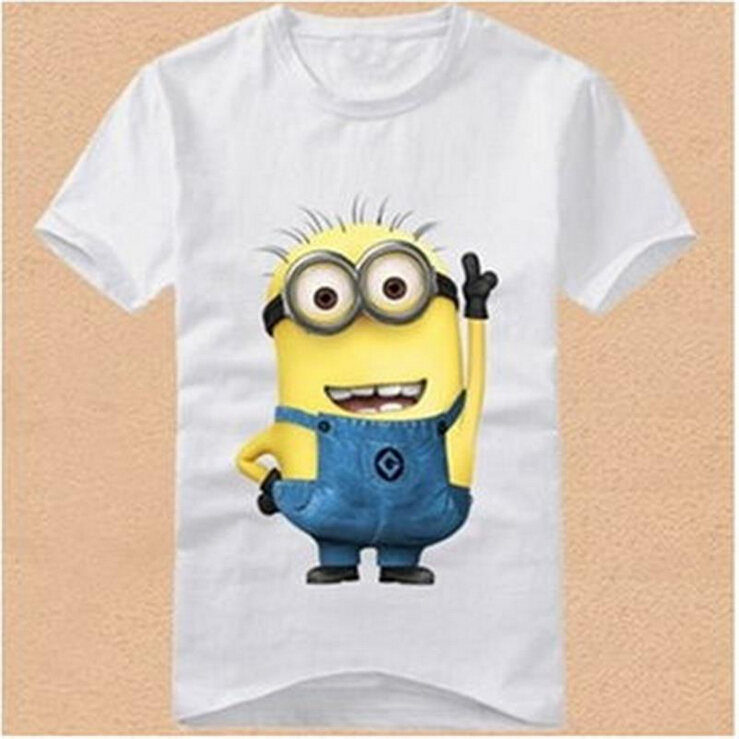 2016 Boys font b Girls b font T shirt Cartoon Anime Figure Despicable Me Minions Clothes