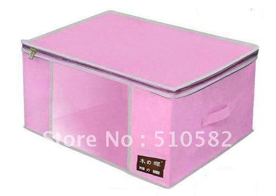 """MUHUI ""Series Wally FunFoldable Bamboo-charcoal Clothes Storage Box W/Handle  80L Capicity TWO COLOR FOR YOUR CHOICE"
