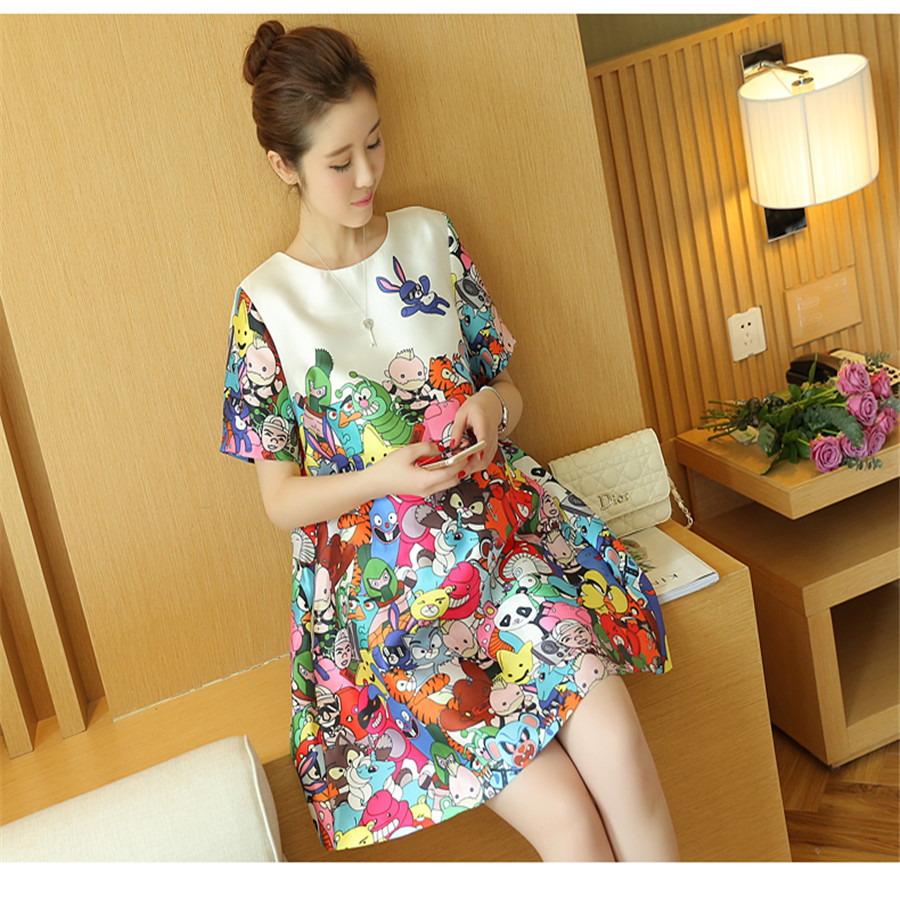 Retail 1PC Maternity Clothes Summer Dress For Pregnant Women Casual Cotton Maternity embroidered Dresses(China (Mainland))