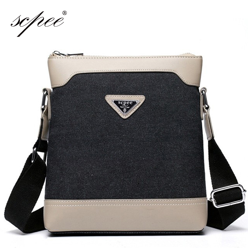 SCPEE Free Shipping New Import PU Men 's Canvas Bag Men' s Bag Casual Shoulder Bag Briefcase(China (Mainland))