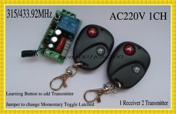 AC220V Wireless Remote Control Switch System 10A Relay Receiver Transmitter Access light LED SMD Strip Wireless Remote ON OFF