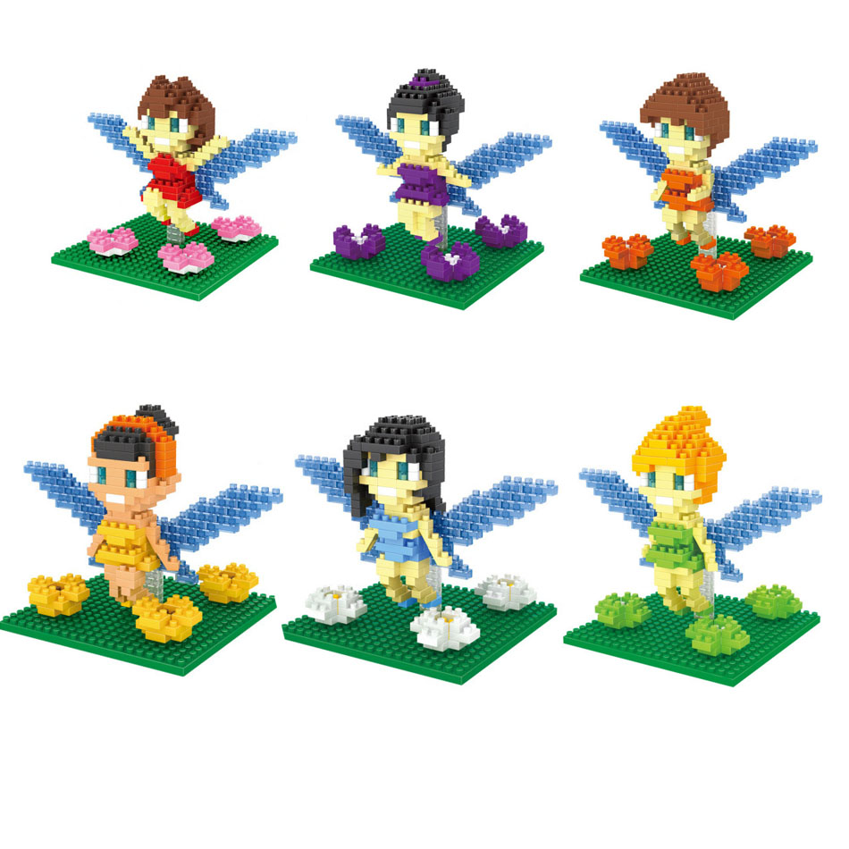 Flower Fairy minifigures minecraft building Blocks Children Birthday Education Kids Gift Toys Action 0886(China (Mainland))