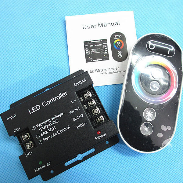LED Controller RF Remote Wireless Touch Pad Panel RGB LED Controller for 5050 RGB Light RGB Controller 12-24V 18A(China (Mainland))