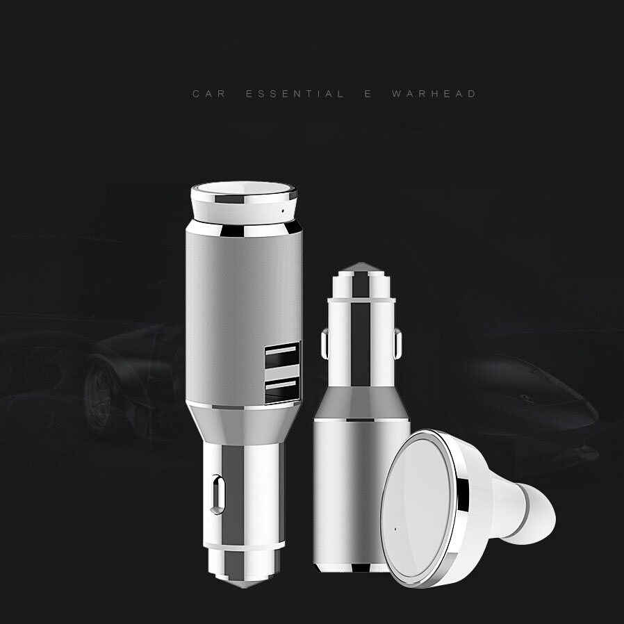 Multi Function Car Earphone BT USB car charger with wireless Bluetooth Earbuds Answer/End Calls for Smart Phones(China (Mainland))