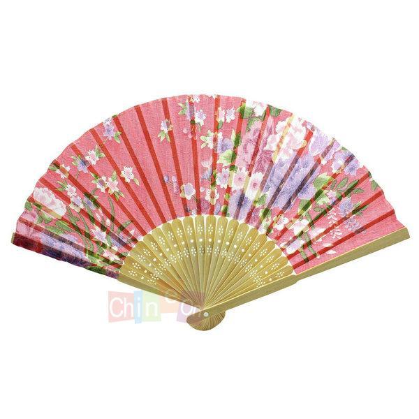 Wedding Party Gift Handmade Chinese Bamboo Flower Pattern Folding Lace Hand Fan(China (Mainland))