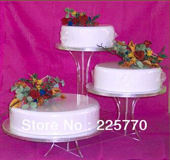 kids party supplies3 Tier Cheap Beautiful Bracket Acrylic Wedding Cake Stand acrylic cupcake stand(China (Mainland))