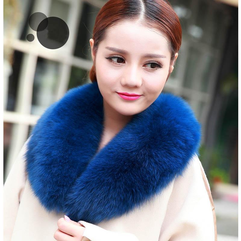 Free Shipping Fox Fur Collar Genuine Fox Fur Jacket Collar Detachable Collar Scarf Luxury Fur Scarf Collar Wholesale and Retail(China (Mainland))