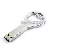Hot sale Beer bottle opener key chain usb flash Drive Memory Stick Drives64GB 8GB 4GB usb /pen / car/flash Free Shipping(China (Mainland))
