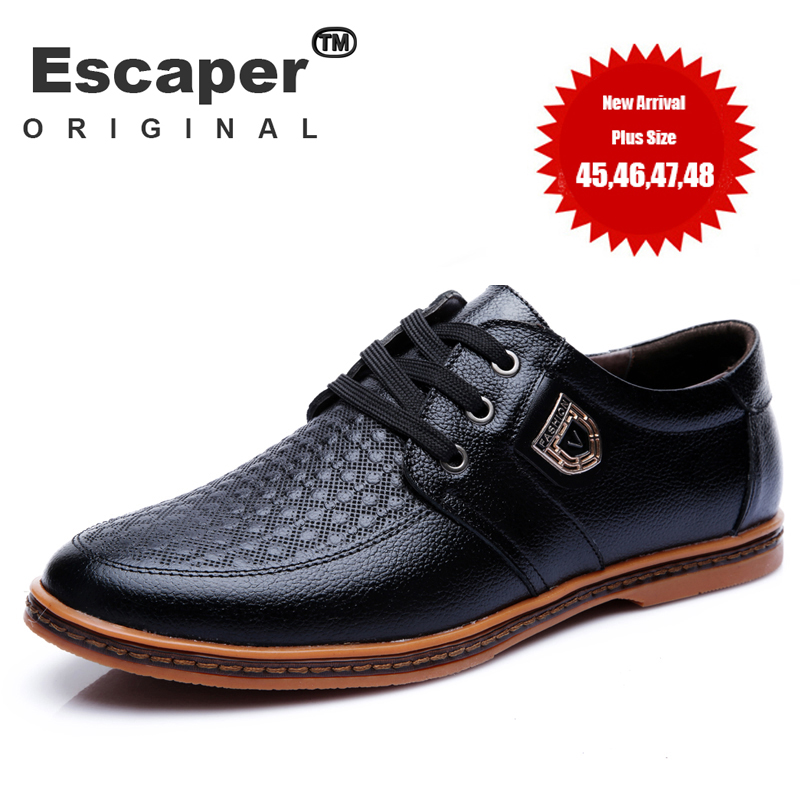 mens shoes casual brand genuine leather oxfords shoes mens