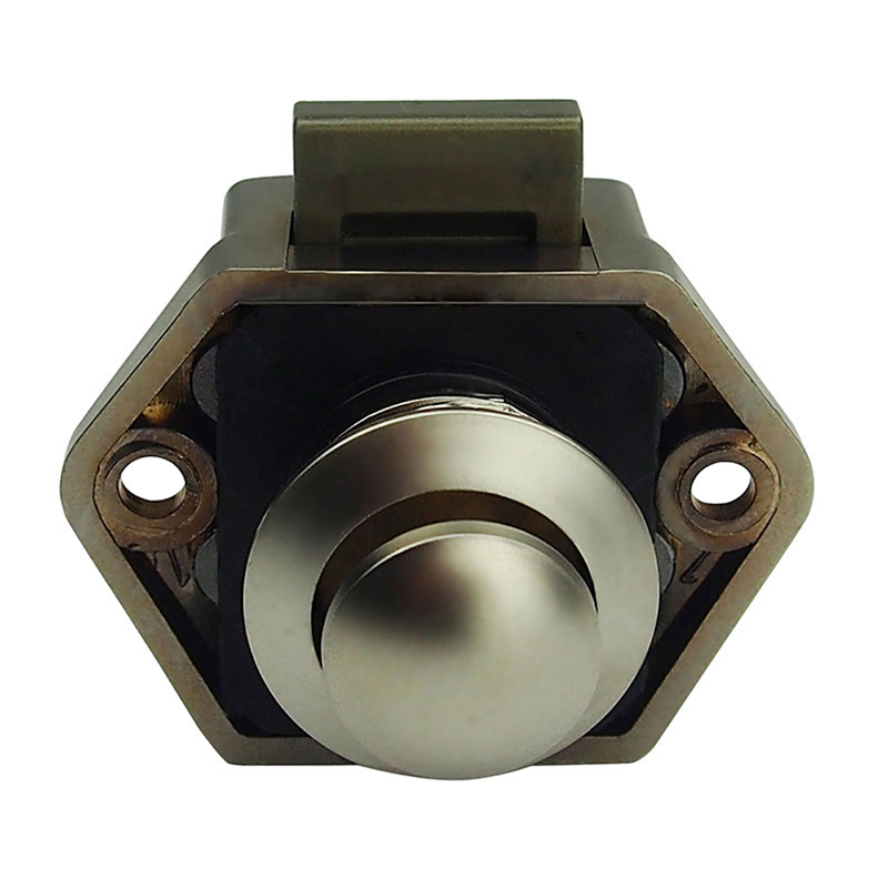 High Quality Mini push lock knob Diameter 20mm RV Caravan Boat Motor home cupboard Push Latch(China (Mainland))