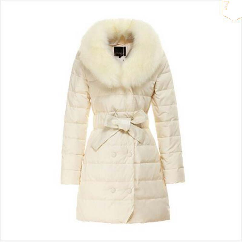 New 2016 winter women thicken down coat warm long fur coat slim down cotton padded women parka coat women down jacket AE925