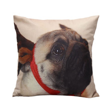 Christmas Moetry Dog Pillow Case Cushion Cover