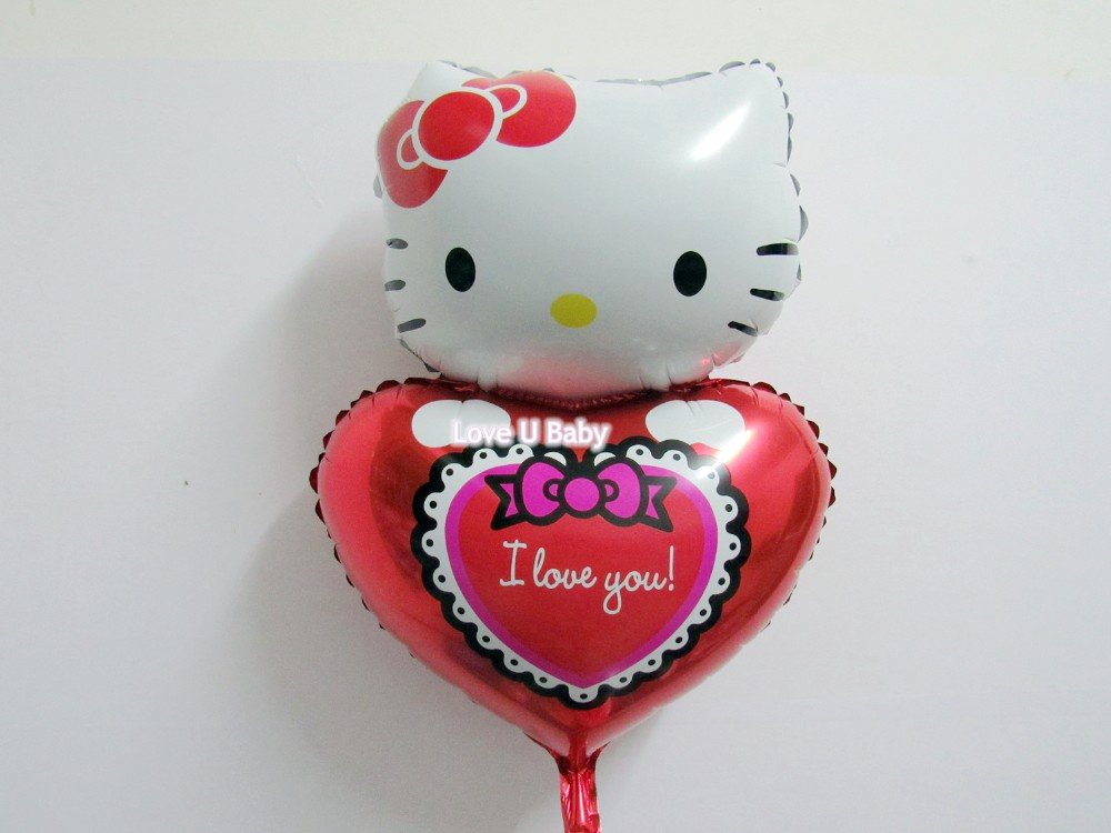50pcs/lot 45*75CM Hello Kitty cat Foil Balloon Birthday Party wedding Decoration Cartoon party Balloons hellokitty kitty Toys<br><br>Aliexpress