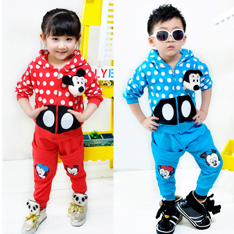 4 sets/lot Best Selling Children Kids Clothing Girls Boys Cartoon Design Suits Spring Autumn Wear HOT AA5308(China (Mainland))