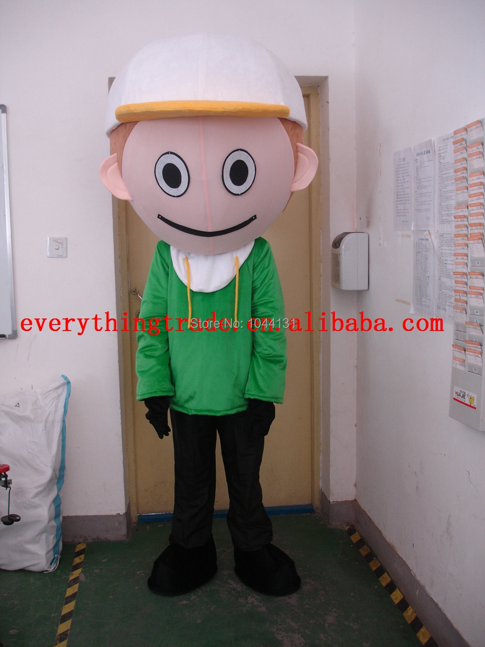 2014 Hot Sale green boy fancy Outfit Mascot Costume Cartoon Character Party Dress Costume(China (Mainland))