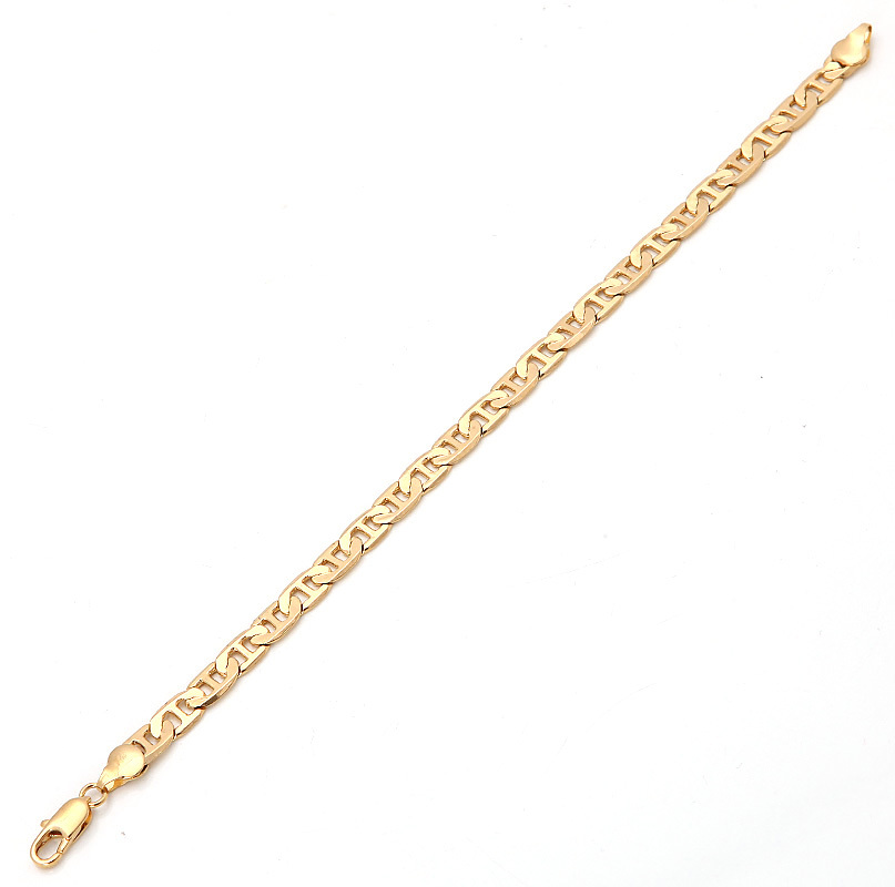 Bright 18K Solid Yellow Gold Filled Men's Bracelet Chain 9.4g B118(China (Mainland))