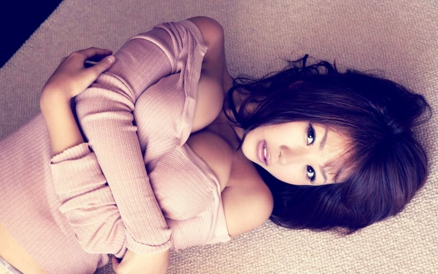 Living room bedroom <font><b>home</b></font> wall <font><b>decoration</b></font> fabric poster <font><b>asian</b></font> sexy woman girl model breasts cleavage lying down