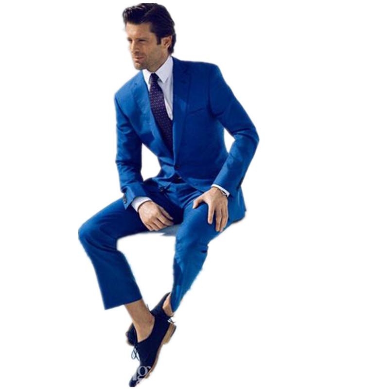 custom made slim fit groom suits tuxedos blue side slit. Black Bedroom Furniture Sets. Home Design Ideas