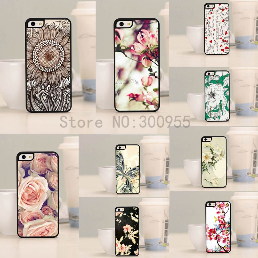 Phone case iPhone 4 4s Various Flowers Scenery Painted Pattern Hard PC Cell Back Cover Skin bags WHD643 - poplar1115 store