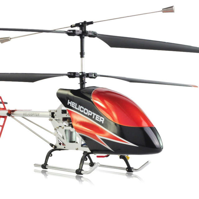 FREE SHIPPING super large 2.4G 3.5CH Double Blade R/C Helicopter with GYRO and Alloy Fuselage 75CM big size helicopter DH9118