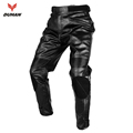 DUHAN Motorcycle Motorcross Riding Protective Trousers Waterproof Windproof Men s PU Imitation Leather Racing Sports Pants